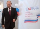 Vladimir Putin votes at Russian presidential elections