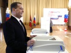 Dmitry Medvedev takes part in voting at Russian presidential election
