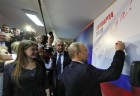 Election campaign office of Russian presidential candidate Vladimir Putin