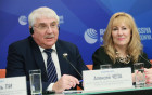 News conference by international observers' mission at Russian presidential election