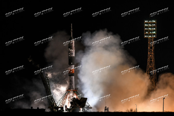 Launch of Soyuz-FG carrier rocket with Soyuz MS-08 spacecraft from Baikonur Space Center