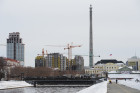Uncompleted 210 meter TV tower in Yekaterinburg