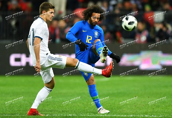 Football. Friendly match. Russia vs. Brazil