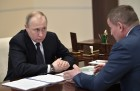 President Putin meets with Volgograd Region Governor Bocharov