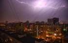 Thunderstorm in Moscow