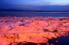 Ice breaks on Amur River