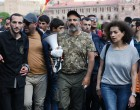 Rally in Yerevan due to Serzh Sargsyan's resignation