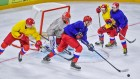 Ice hockey. World Championships. Russian national team's training session