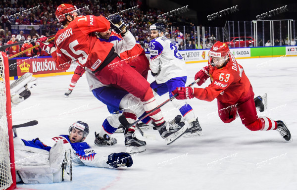 Ice hockey. 2018 IIHF World Championship. Russia vs. Slovakia