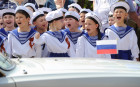 'Children's troops' parade in Rostov-on-Don