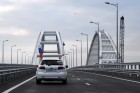 Crimean Bridge open for car traffic