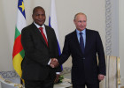 Russian President Vladimir Putin meets with President of Central African Republic Faustin-Archange Touadera