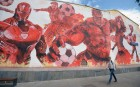 Grafitti in Moscow for 2018 FIFA World Cup