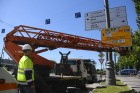 Installing street signs for 2018 FIFA World Cup
