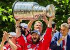 Washington Capitals captain Ovechkin with Stanley Cup