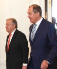 Russian Foreign Minister Sergei Lavrov meets with UN Secretary-General Antonio Guterres