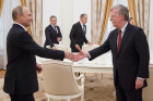 Russian President Vladimir Putin meets with US National Security Adviser John Bolton