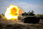 Tank exercise at Pogonovo base in Voronezh Region