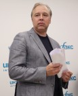 News conference by Moscow mayoral candidate Vadim Kumin