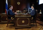 Prime Minister Dmitry Medvedev meets with Acting Governor of Pskov Region Mikhail Vedernikov