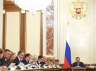 Prime Minister Dmitry Medvedev holds Government meeting