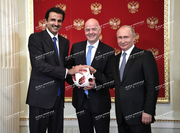 President Putin attends ceremony to hand the World Cup over to 2022 hosts Qatar