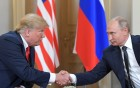 Russian President Vladimir Putin and US President Donald Trump meet in Helsinki