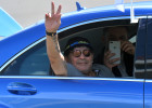 Diego Maradona arrives in Brest