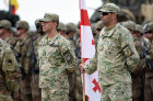 Kick-off ceremony for Noble Partner military exercise in Georgia
