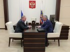 Russian President Vladimir Putin meets with Head of North Ossetia Vyacheslav Bitarov