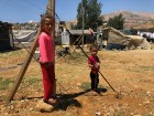 Syrian refugees in Bekaa Valley, Lebanon