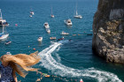 Freerate Cliff Diving World Cup international tournament in Crimea
