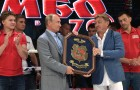 Vladimir Putin attends international combat sambo tournament