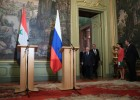 Russian, Syrian Foreign Ministers Lavrov and Muallem meeting