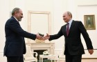 Russian President Vladimir Putin meets with Prime Minister of Armenia Nikol Pashinyan