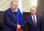 Vladimir Putin meets with Turkish President Recep Erdogan