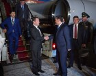 Russian Prime Minister Dmitry Medvedev arrives in Dushanbe for SCO Heads of Government meeting