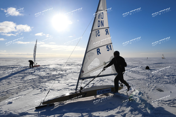 Russia Ice Yachting