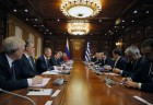Prime Minister Dmitry Medvedev meets with Prime Minister of Grees Alexis Tsipras