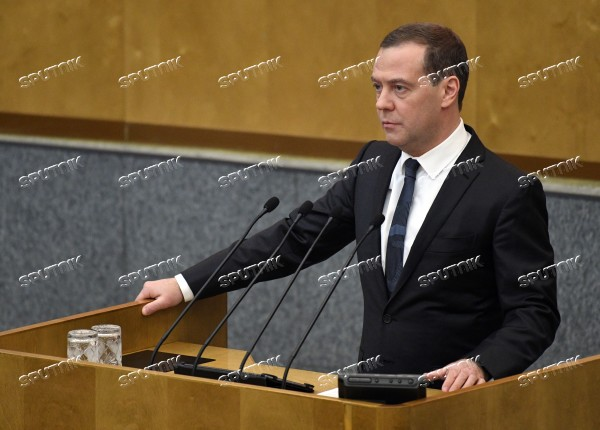 Prime Minister Dmitry Medvedev attends last plenary meeting of State Duma fall session