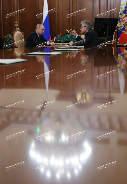 President Vladimir Putin meets with Russian Academy of Sciences President Alexander Sergeyev
