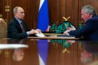 President Putin meets with Roscosmos Director Rogozin