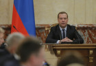 Russia Medvedev Government Meeting