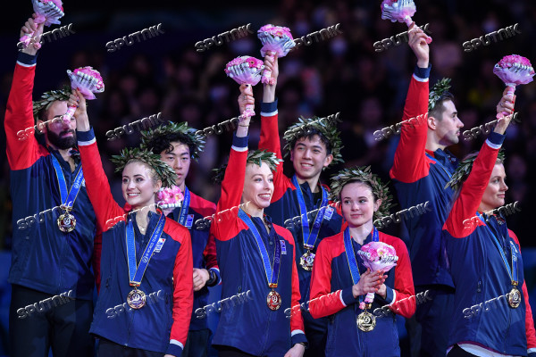 Japan Figure Skating Team Worlds Medals