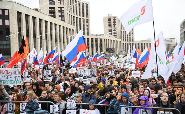 Russia Moscow Parliament Elections Protests