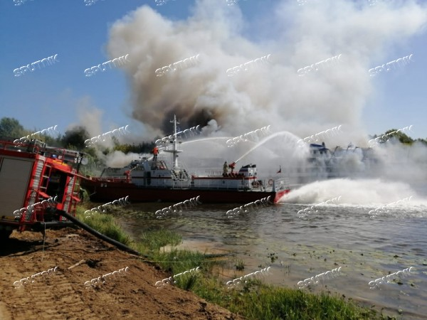 Russia River Motorboat Fire