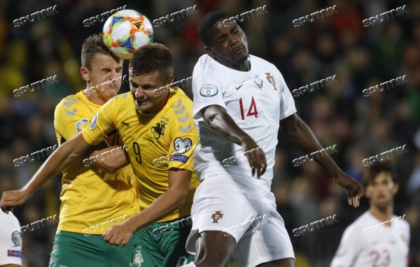 Lithuania Soccer Euro 2020 Qualifier Lithuania - Portugal