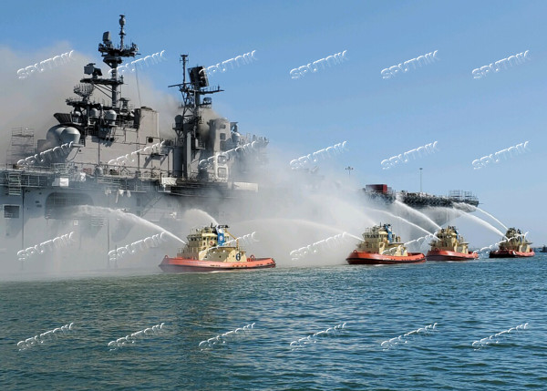 US Navy Ship Fire