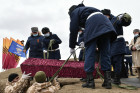 Russia WWII Soviet Soldiers Reburial