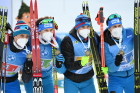 Slovenia Biathlon Worlds Men Relay